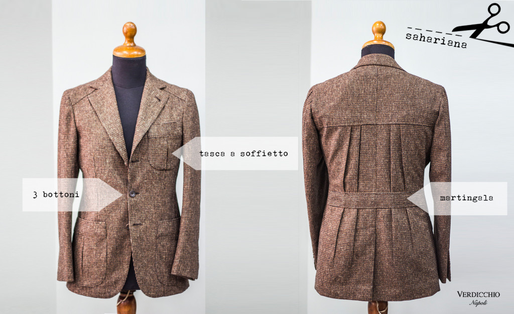 giacca sahariana marrone